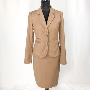 The Limited Collection Taupe 2 Pc Skirt Suit